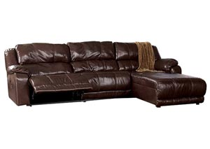 Braxton Java Right Facing Chaise End Reclining Sectional