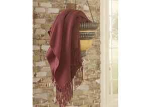 Burgundy Ashton Throw,Signature Design by Ashley