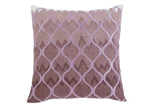 Stitched Purple Pillow Cover