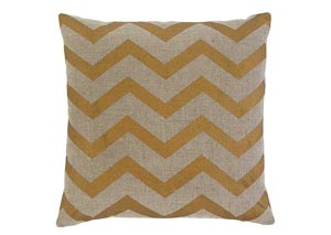 Gold Chevron Pillow Cover