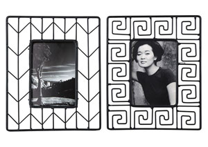 Achava Black Photo Frame (Set of 2)