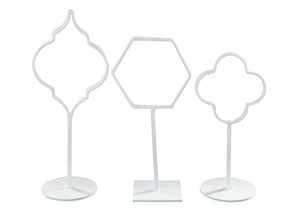 Acotas White Photo Holder (Set of 3)