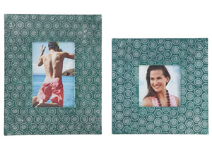Bansi Teal Photo Frame (Set of 2)