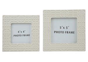 Kael Cream Photo Frame (Set of 2)