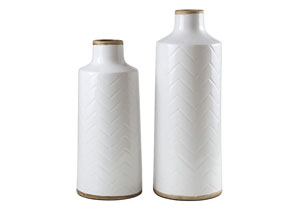 Kaelem Antique White Vase (Set of 2)