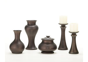 Brown Nidra 5-Piece Accessory Set,Signature Design by Ashley
