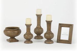 Antique Wood Tone Rosanna 5-Piece Accessory Set
