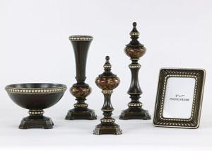Rosemary Bronze & Antique Silver 5 Piece Accessory Set