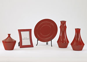 Sirilla Red 5-Piece Accessory Set