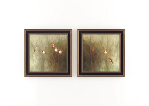 Gray/Green/White/Brown Adora Wall Art Set (Set of 2)