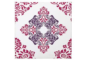Jadine White/Pink Wall Art