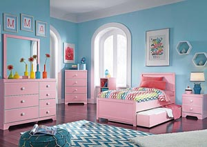 Bronett Twin Panel Trundle Bed, Dresser & Mirror