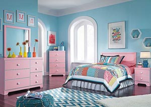 Bronett Full Panel Headboard, Dresser & Mirror