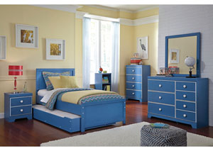 Bronilly Twin Trundle Bed, Dresser, Mirror, Chest & Night Stand