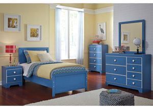 Bronilly Twin Panel Bed, Dresser, Mirror, Chest & Night Stand
