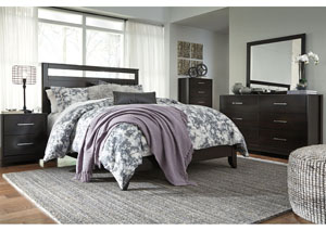 Agella Merlot Queen Panel Bed w/Dresser and Mirror,Signature Design by Ashley