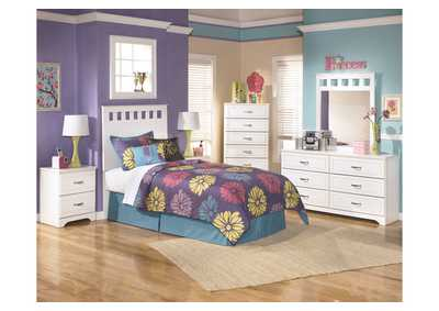Lulu Twin Panel Headboard, Dresser & Mirror