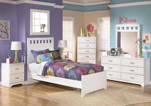 Lulu Full Panel Bed, Dresser & Mirror