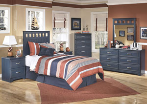 Leo Twin Panel Headboard, Dresser & Mirror