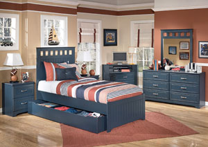 Leo Twin Panel Bed w/ Storage,Signature Design by Ashley