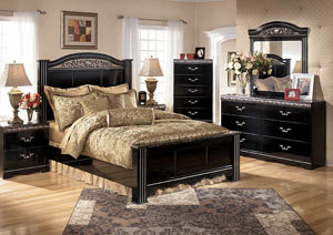 Constellations Queen Poster Bed, Dresser, Mirror & Night Stand,Signature Design by Ashley