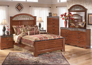 Fairbrooks Estate Queen Panel Headboard, Dresser, Mirror, Chest & Night Stand