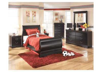 Huey Vineyard Twin Sleigh Bed, Dresser, Mirror, Chest & Night Stand,Signature Design by Ashley