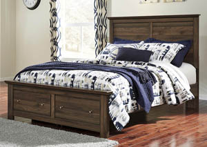 Burminson Brown Queen Platform Storage Bed,Signature Design by Ashley