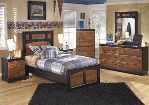 Aimwell Twin Panel Bed, Dresser, Mirror, Chest & Night Stand