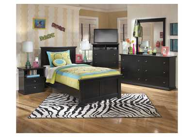 Maribel Twin Panel Bed, Dresser, Mirror, Chest & Night Stand