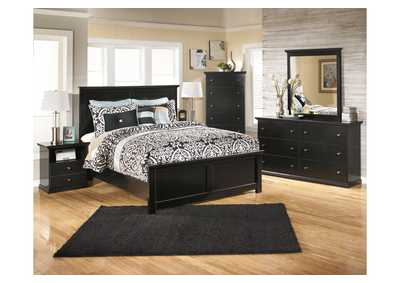 Maribel Queen Panel Bed, Dresser, Mirror & Chest