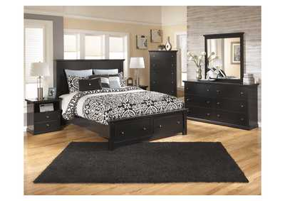 Maribel Queen Storage Platform Bed, Dresser & Mirror