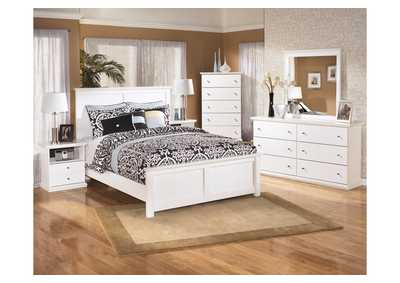 Bostwick Shoals Queen Panel Bed, Dresser, Mirror & Nightstand