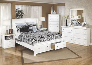 Bostwick Shoals Queen Storage Platform Bed, Dresser & Mirror