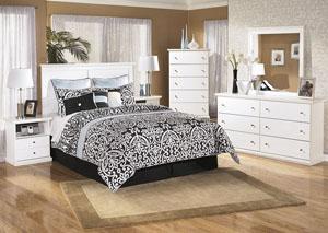 Bostwick Shoals Queen/Full Panel Headboard, Dresser, Mirror & Night Stand