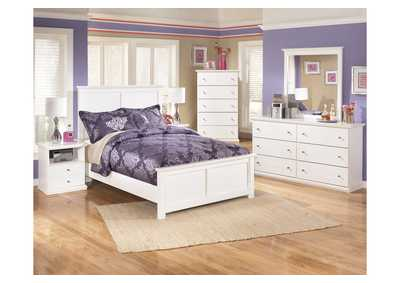 Bostwick Shoals Full Panel Bed, Dresser, Mirror & Chest