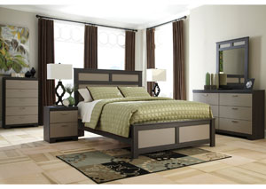 Wellatown Queen Panel Bed, Dresser & Mirror