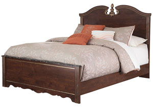 Naralyn Reddish Brown Queen Panel Bed,48 Hour Quick Ship