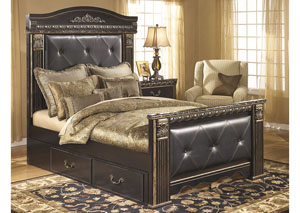 Coal Creek Queen Mansion Storage Bed