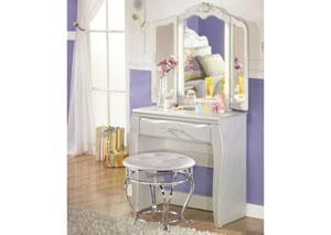 Zarollina Vanity w/ Mirror & Stool