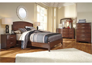 Gennaguire Queen Panel Bed, Dresser, Mirror, Chest & Night Stand