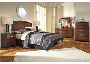 Gennaguire Queen Panel Bed, Dresser, Mirror & Nightstand