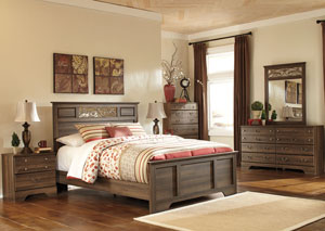 Allymore Queen Panel Bed, Dresser & Mirror