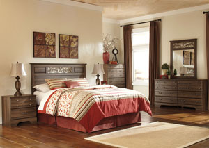 Allymore Queen/Full Panel Headboard, Dresser, Mirror & Chest,Signature Design by Ashley