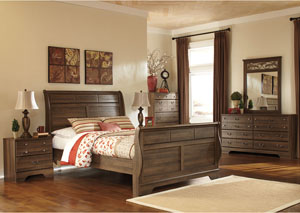 Allymore Queen Sleigh Bed, Dresser, Mirror & Chest