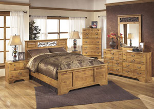 Bittersweet Queen Panel Bed, Dresser, Mirror, Chest & Night Stand
