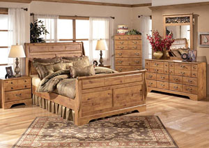 Bittersweet Queen Sleigh Bed, Dresser, Mirror, Chest & Night Stand,Signature Design by Ashley