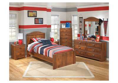 Barchan Twin Panel Bed, Dresser, Mirror, Chest & Night Stand,Signature Design by Ashley