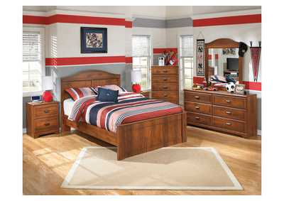 Barchan Full Panel Bed, Dresser & Mirror