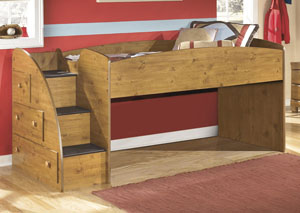 Stages Twin Loft Bed w/ Storage Steps